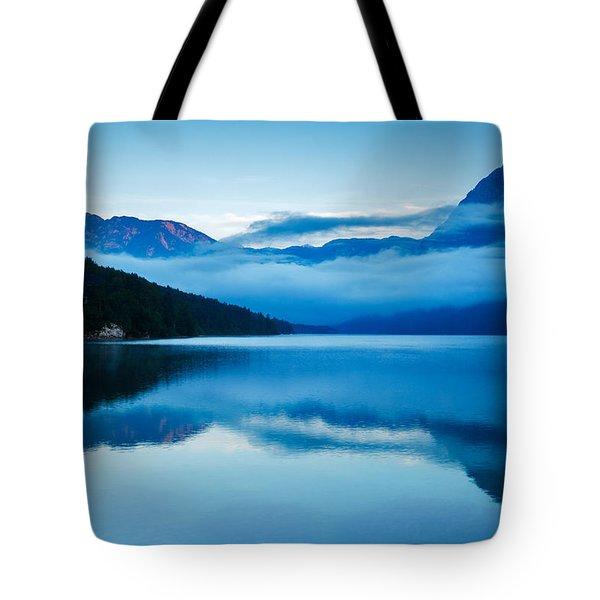 Morning At Lake Bohinj In Slovenia Tote Bag