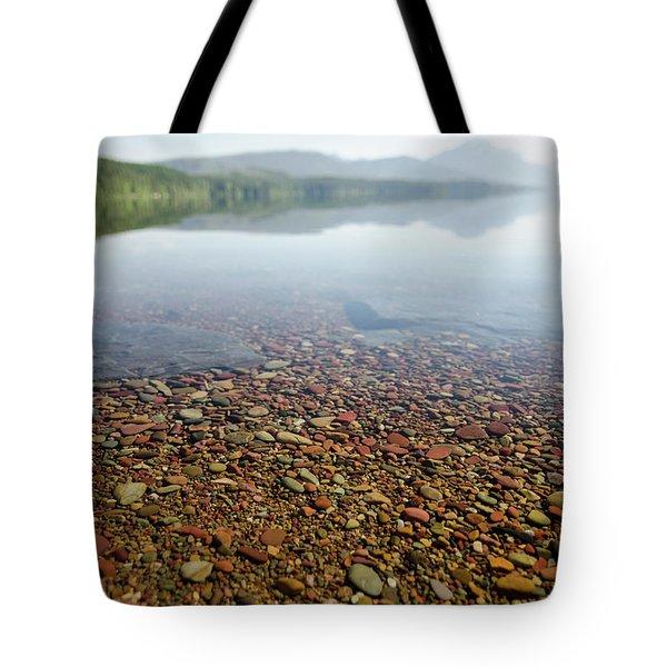 Morning At Lake Mcdonald Tote Bag
