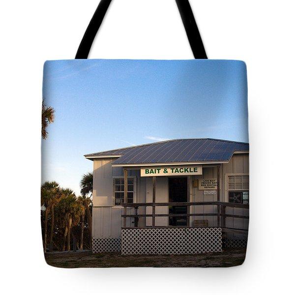 Morning At Sebastian Inlet In Florida Tote Bag by Allan  Hughes
