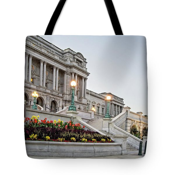 Morning At The Library Of Congress Tote Bag by Greg Mimbs