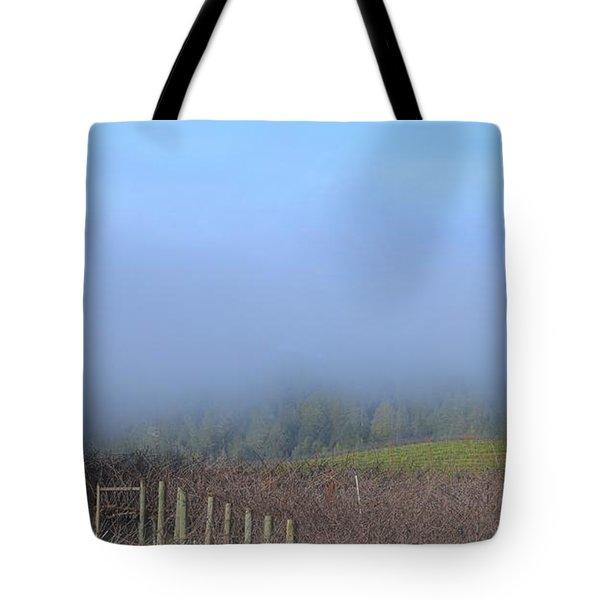 Morning At The Vinyard Tote Bag