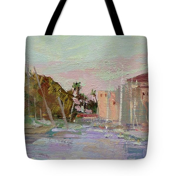 Morning Avalon Harbor - Catalina Island Tote Bag