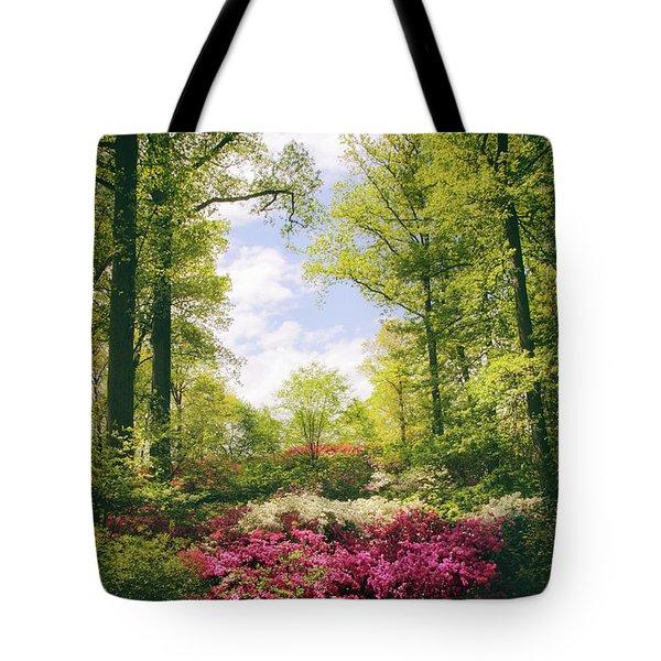 Morning Azaleas Tote Bag by Jessica Jenney