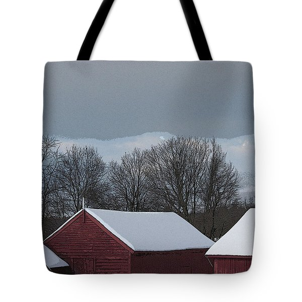 Morning Barnscape Tote Bag