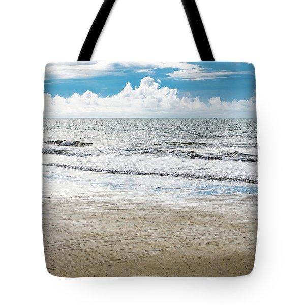 Morning Beach Workout Tote Bag