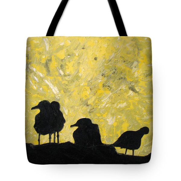 Tote Bag featuring the painting Morning Birds by Patricia Arroyo