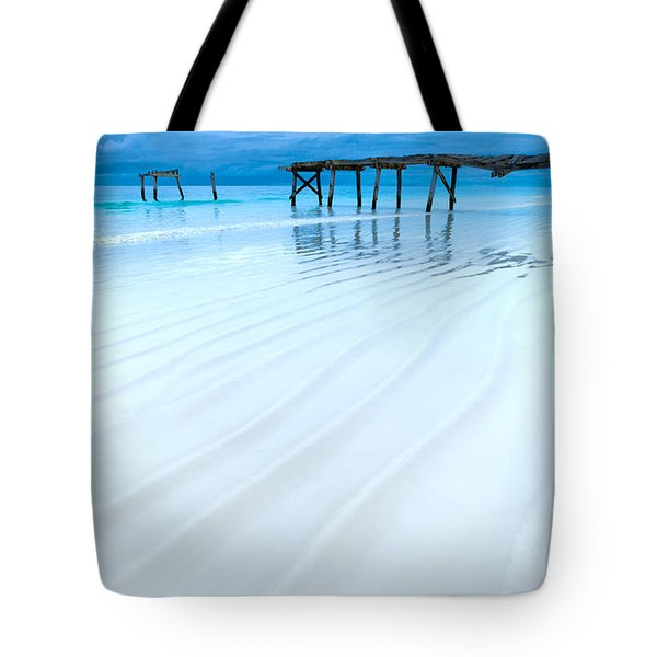 Morning Blues Tote Bag
