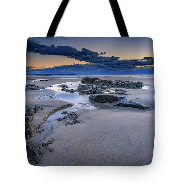 Tote Bag featuring the photograph Morning Calm On Wells Beach by Rick Berk