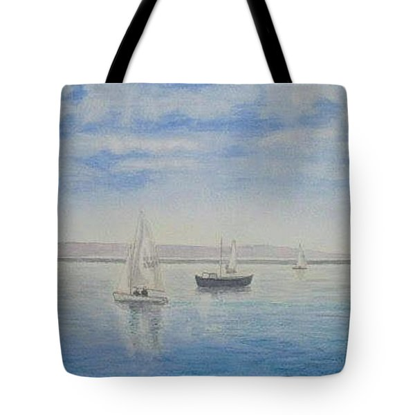 'morning Calm' - West Kirby Marine Lake Tote Bag by Peter Farrow