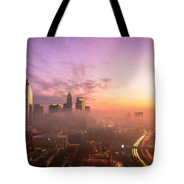 Tote Bag featuring the photograph Morning Charlotte Rush Hour by Serge Skiba