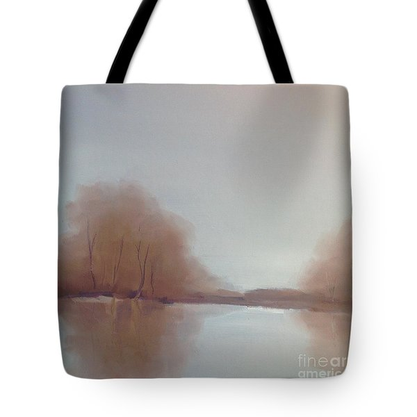 Tote Bag featuring the painting Morning Chill by Michelle Abrams