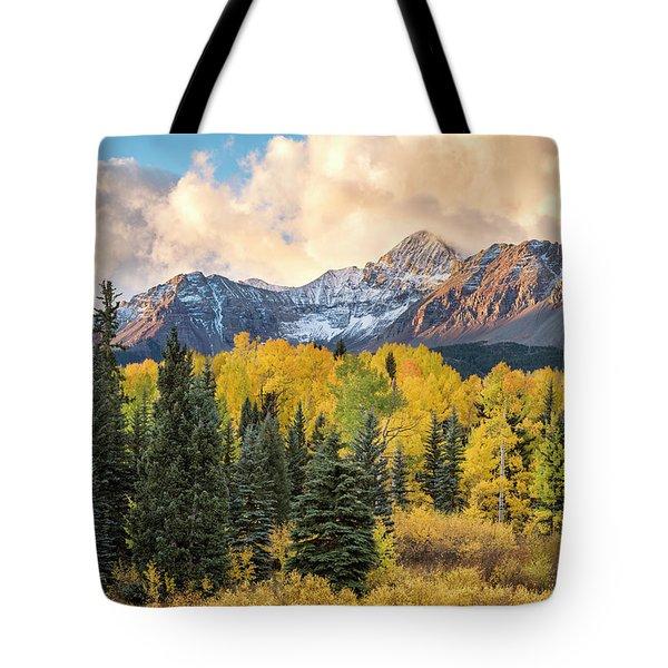 Morning Clouds, Wilson Peak Tote Bag