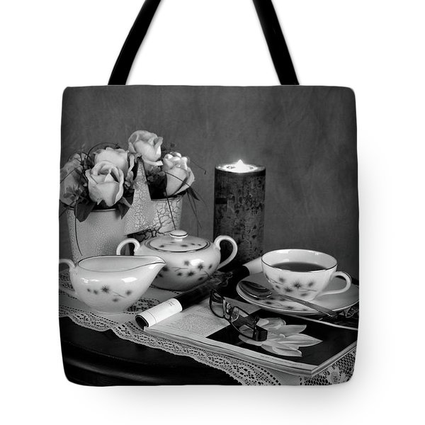 Morning Coffee And Reading Magazine Time Tote Bag