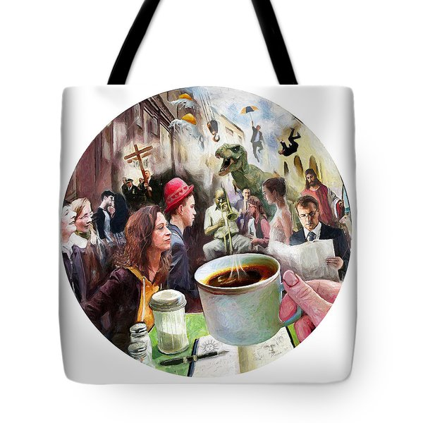 Morning Coffee With Eggs Over Easy Tote Bag