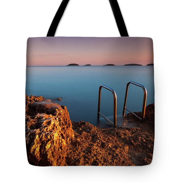 Tote Bag featuring the photograph Morning Colors by Davor Zerjav