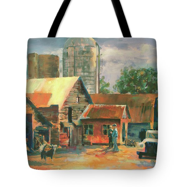 Morning Conference Tote Bag by Carol Strickland