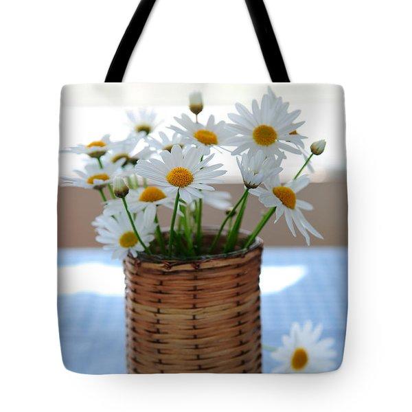 Morning Daisies Tote Bag by Elena Elisseeva