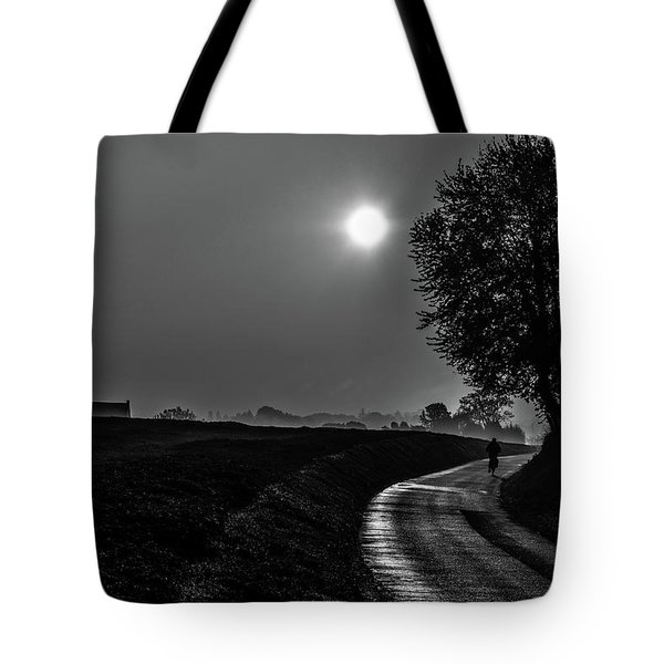 Morning Dew Bw Tote Bag