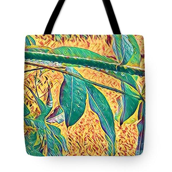 Morning Dew Drops In Puna Tote Bag