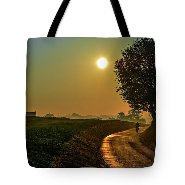 Morning Dew In Color Tote Bag