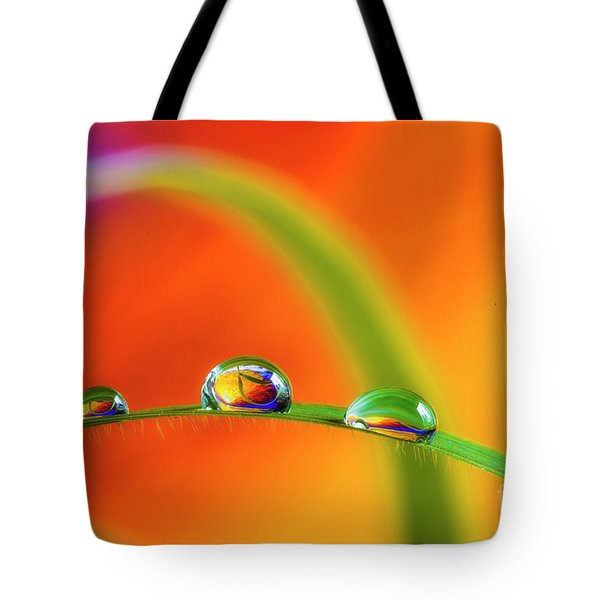 Morning Dewdrops Tote Bag