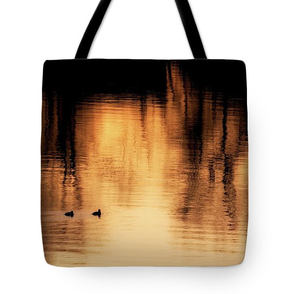 Tote Bag featuring the photograph Morning Ducks 2017 by Bill Wakeley