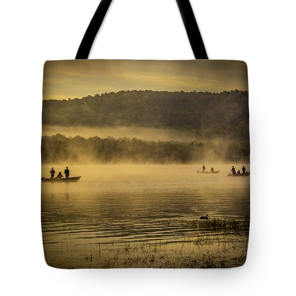 Catching Lunch Tote Bag