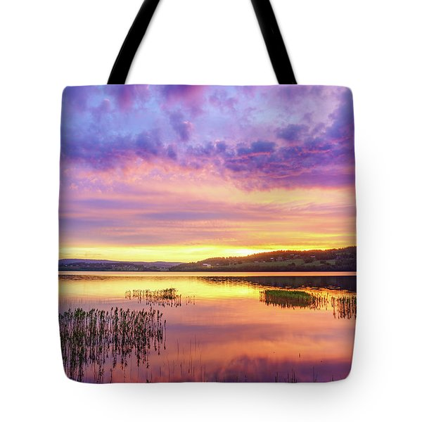 Tote Bag featuring the photograph Morning Fire by Dmytro Korol