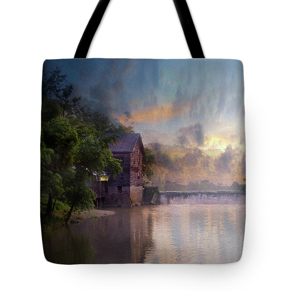 Tote Bag featuring the photograph Morning Fishing  by Joel Witmeyer