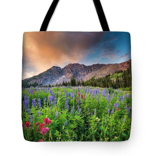 Morning Flowers In Little Cottonwood Canyon, Utah Tote Bag