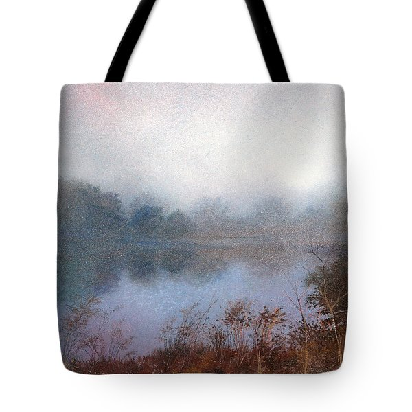 Morning Fog Tote Bag by Andrew King
