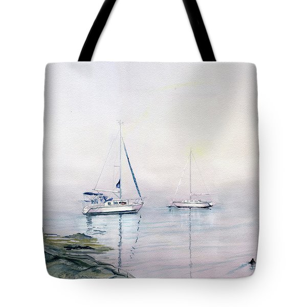 Morning Fog  Tote Bag by Melly Terpening