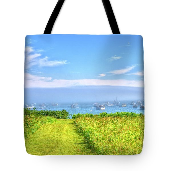 Morning Fog In Maine Tote Bag