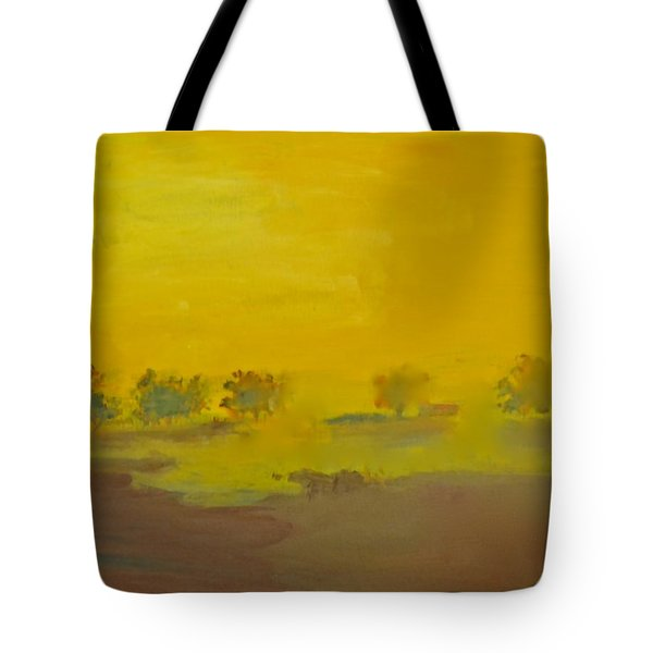 Morning Fog In The Pasture Tote Bag