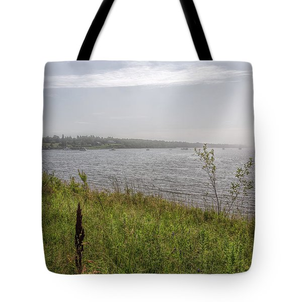 Tote Bag featuring the photograph Morning Fog by John M Bailey