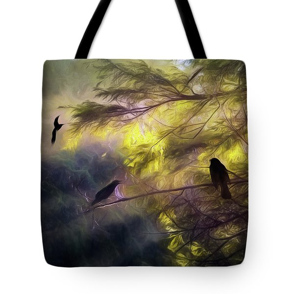 Morning Forest Light Tote Bag