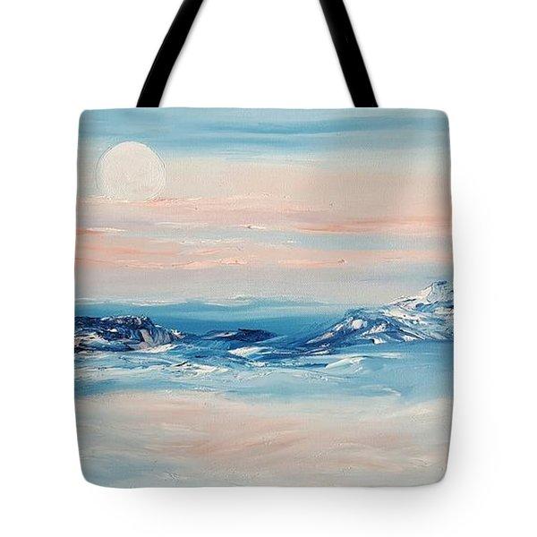 Morning Full Moon Tote Bag