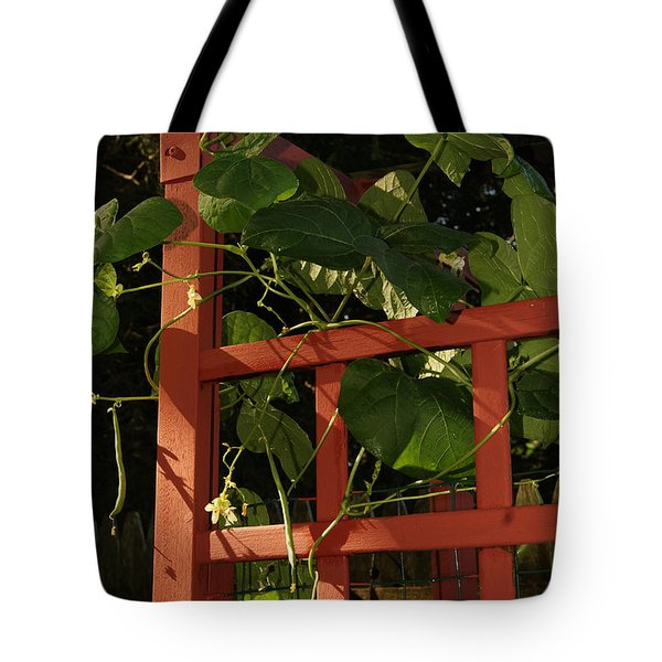 Morning Garden Bean Plants Tote Bag