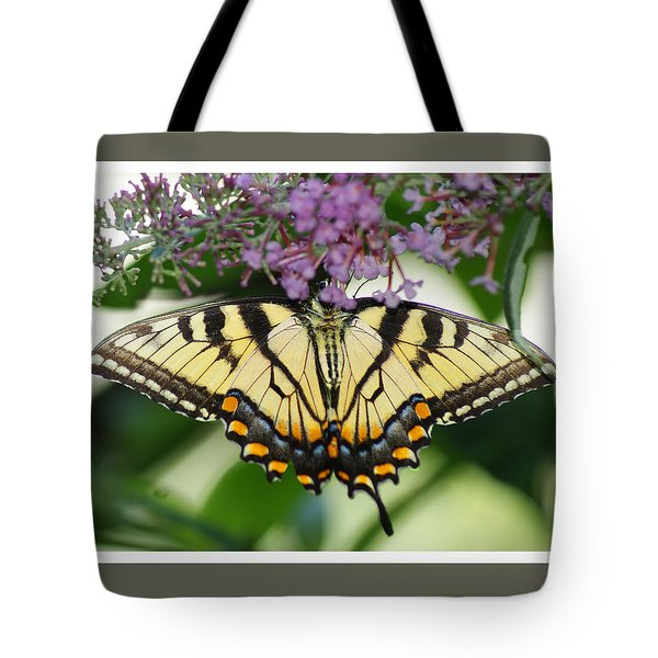 Morning Garden  Butterfly Tote Bag