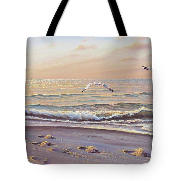 Morning Glisten Tote Bag