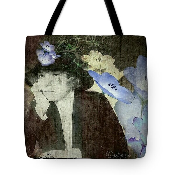 Tote Bag featuring the digital art Morning Glories by Delight Worthyn