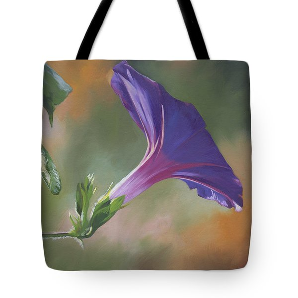 Tote Bag featuring the painting Morning Glory by Alecia Underhill