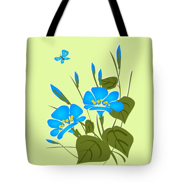 Morning Glory Tote Bag by Anastasiya Malakhova