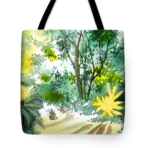 Morning Glory Tote Bag by Anil Nene