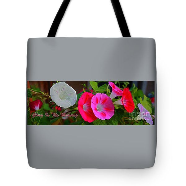 Morning Glory Banner Tote Bag
