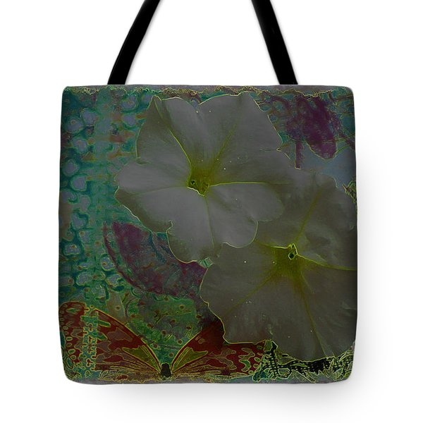 Tote Bag featuring the photograph Morning Glory Fantasy by Donna Bentley