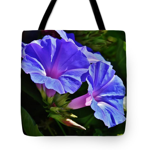 Morning Glory Flower Tote Bag