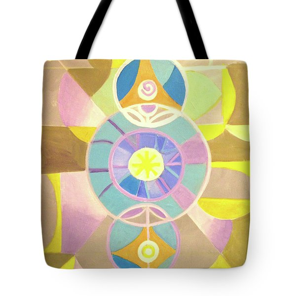 Morning Glory Geometrica Tote Bag