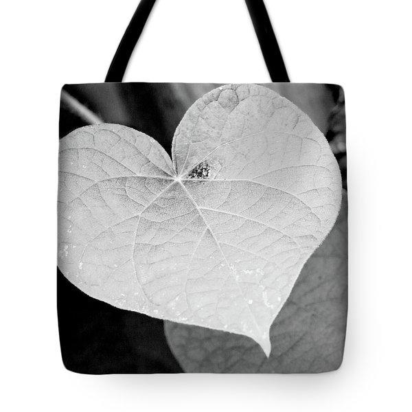 Morning Glory Heart Tote Bag