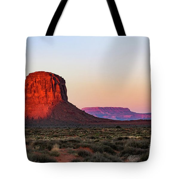 Morning Glory In Monument Valley Tote Bag